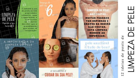 21 ideias de posts sobre limpeza de pele para divulgar na sua clínica de estética