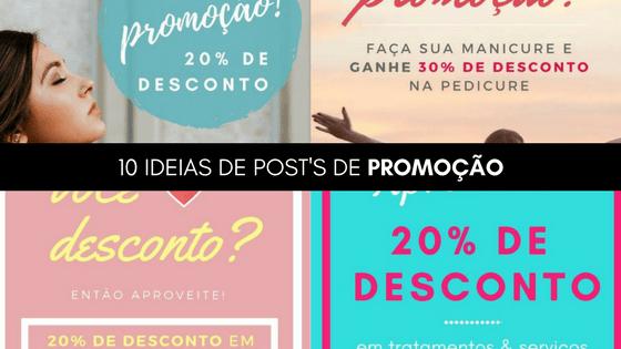 10 ideias de posts de PROMOÇÃO para você, profissional de beleza!