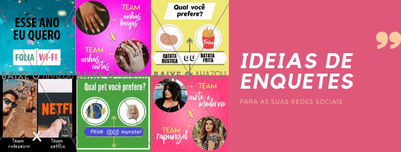 Ideias de enquetes para as suas redes sociais